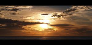 Ocean sunrise - Panorama
