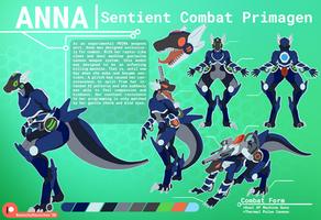 COMMISSION: Anna - Sentient Combat Primagen (Ref)