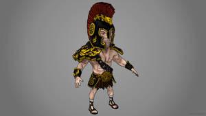 cel shaded gladiator
