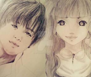 1-Taemin/ 2-Simple anime draw