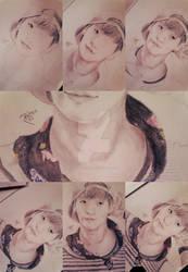 Jonghyun drawing_step by step