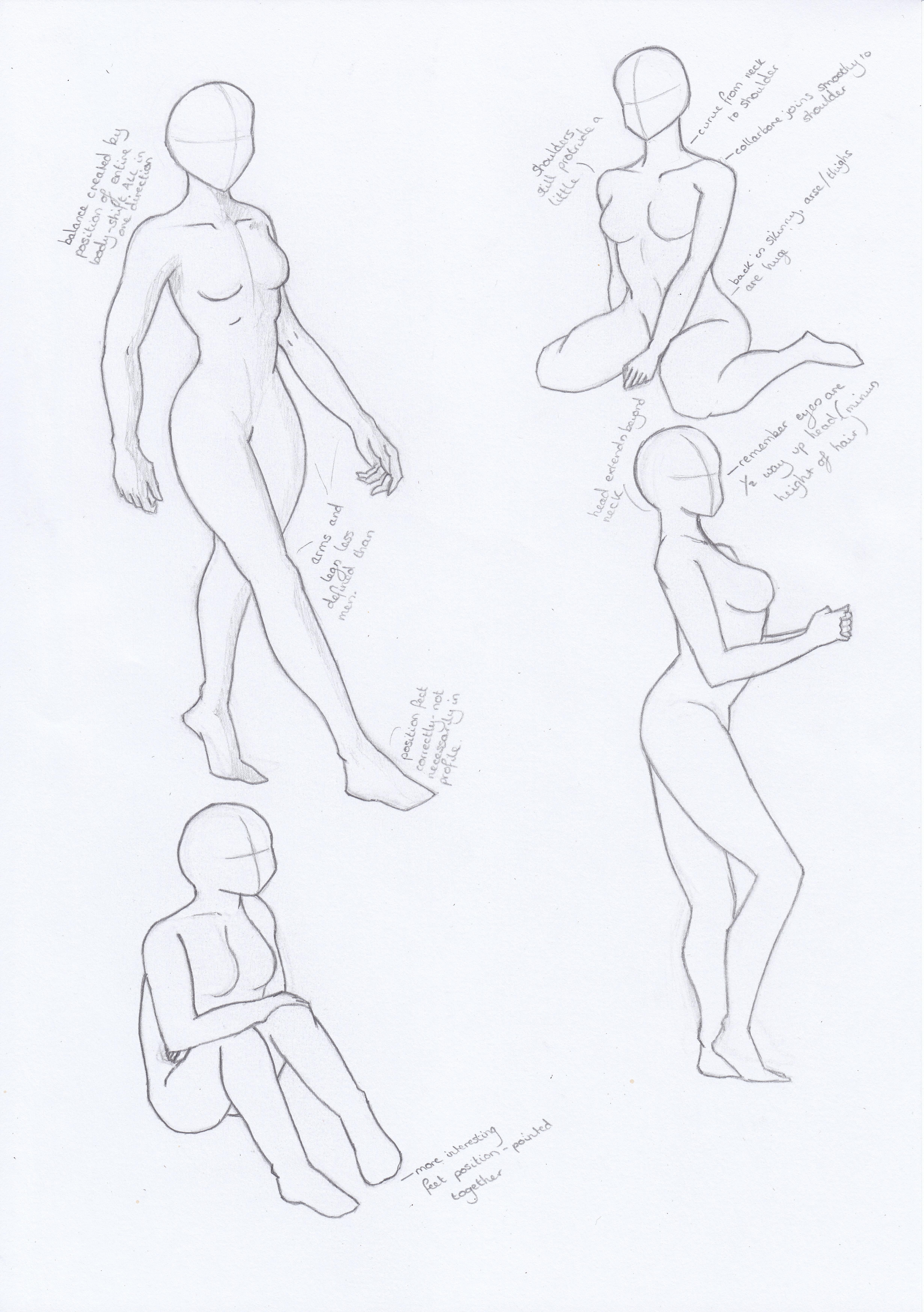 Female Manga Body Studies By Aoempires On Deviantart