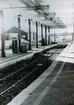 Vintage train station 35mm film
