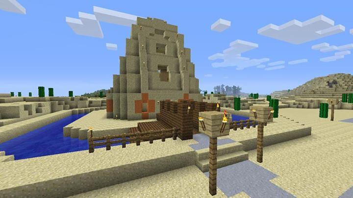 minecraft desert houses