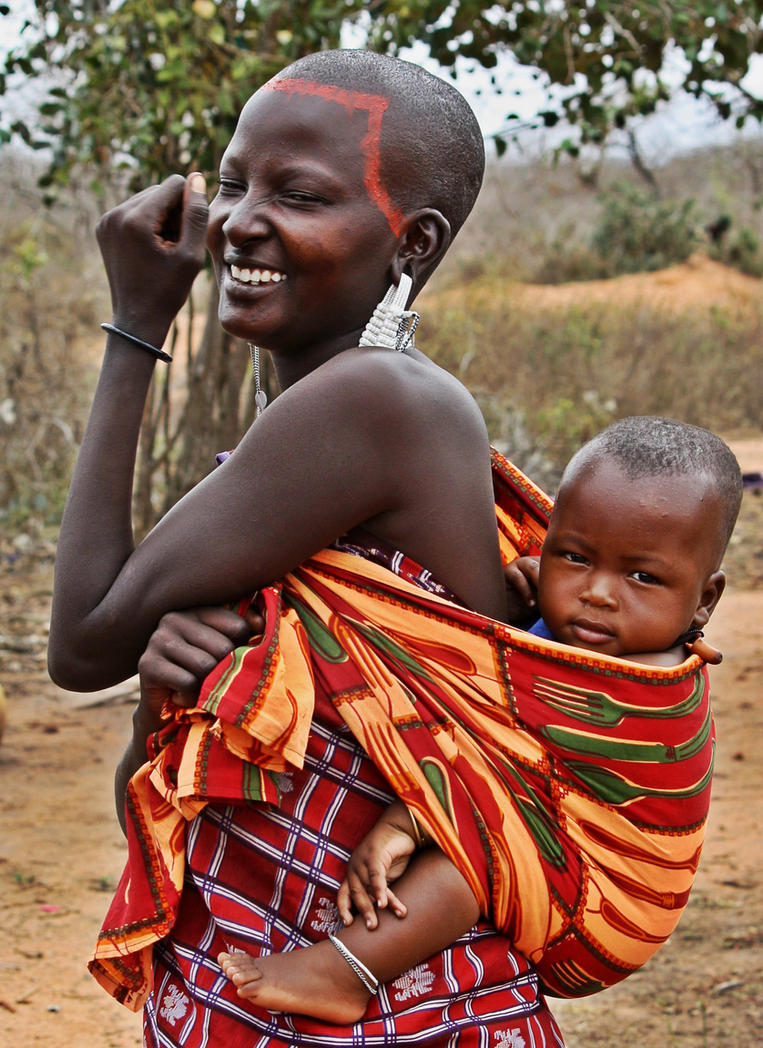 Masai Mother And Child By Finefien On Deviantart