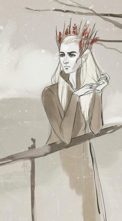 Thranduil_sketch by Pikeperch9