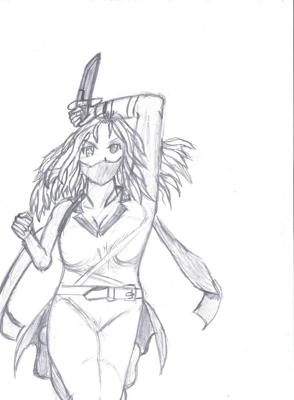 Girl Ninja Drawing Manga Ninja Girl by