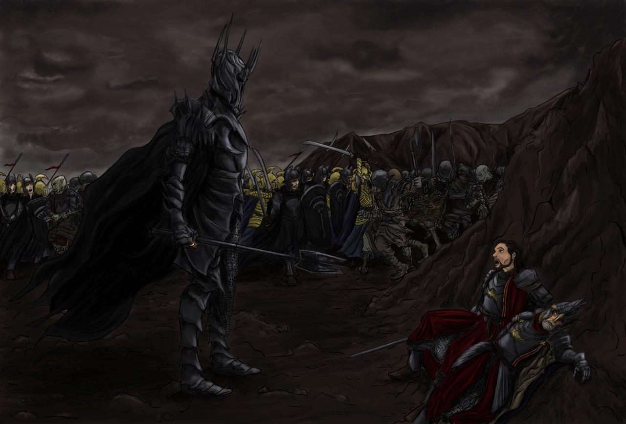 GoodvsEvil Sauron vs Isildur by maiwand85