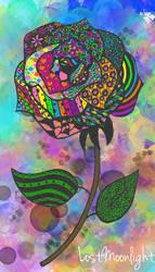 Zentangle Rose by Lost-Moonlight
