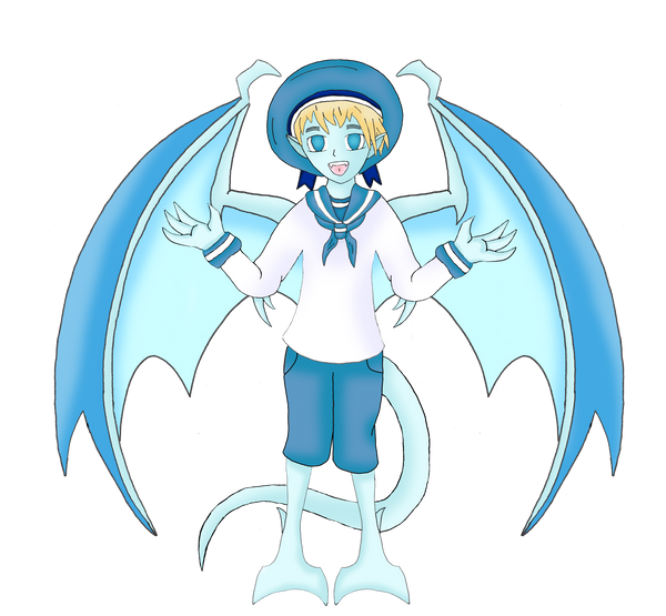 Hetalia Gargoyles: Sealand by Crystal-Rosewing