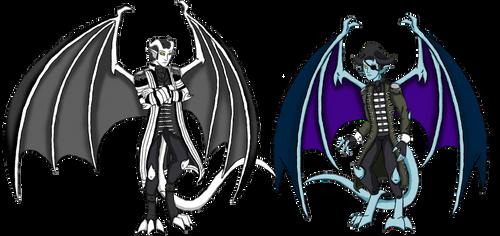 Salazar and Lesaro Gargoyles by Crystal-Rosewing