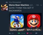 Sonic Run? Mario Jump?