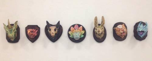 Ceramic Monster Busts