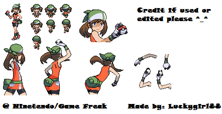 Pokemon BW-May Sprite Sheet by luckygirl88