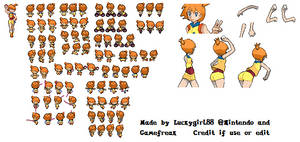 Pokemon BW- Misty Sprite Sheet