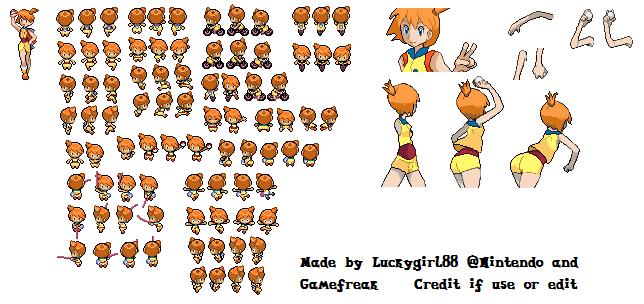 Pokemon Bw Misty Sprite Sheet By Luckygirl88 On Deviantart