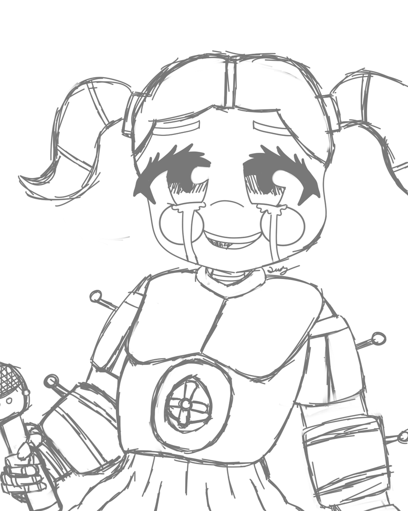 Baby fnaf sister location free coloring pages for Sister coloring pages