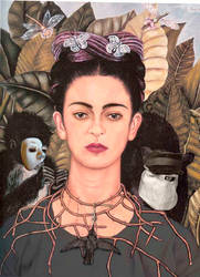 Self Portrait as Frida Kahlo by Crystal-Gargoyle