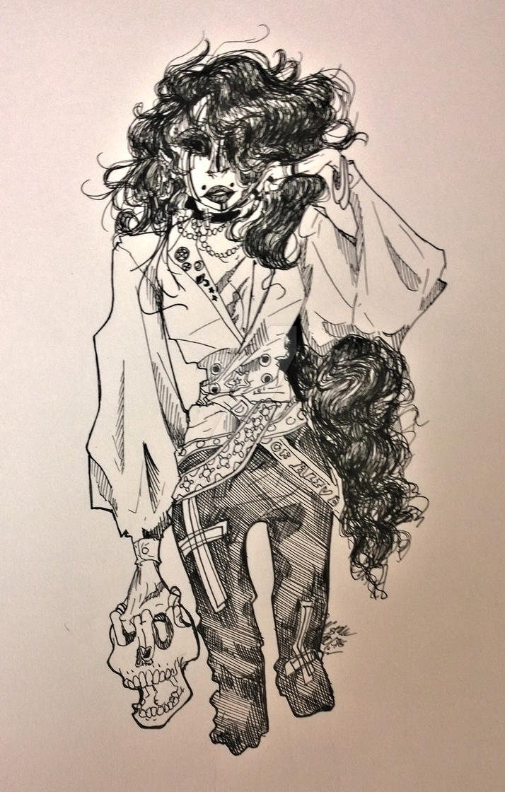 Vampire Pen Drawing by MAYUKUROCHAN