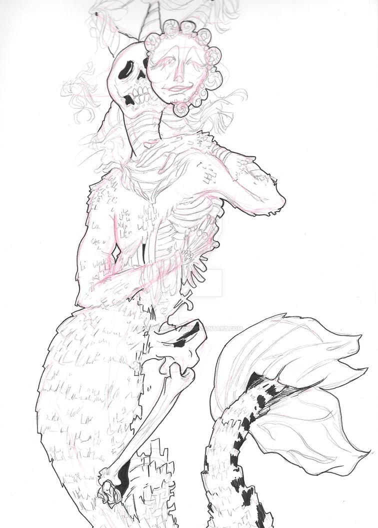 Work in Progress project drawing by MAYUKUROCHAN