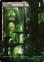 Altered Ravnica Swamp by vyler