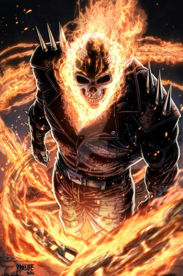 Ghost Rider (colored) by grandizer05