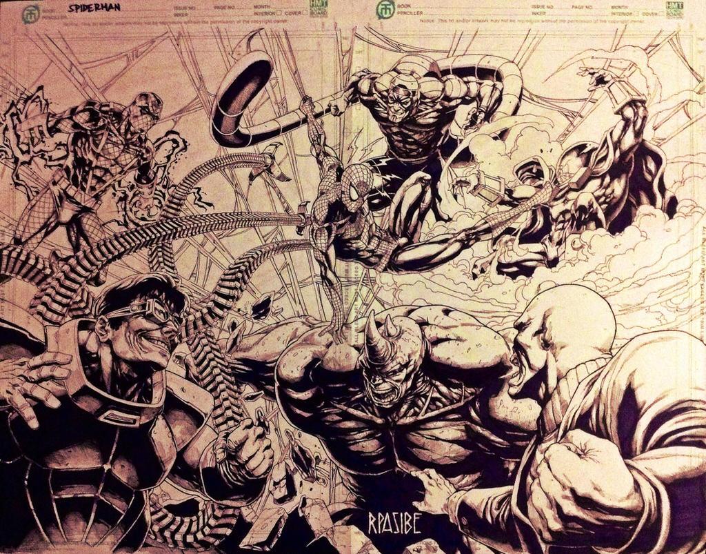 SPIDEY vs SINISTER SIX by grandizer05