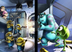 MINIONS vs MONSTER INC (colored)