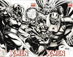 XMEN SUPERVILLAINS sketchcover by grandizer05