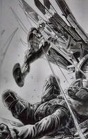 SPIDERMAN vs VULTURE by grandizer05