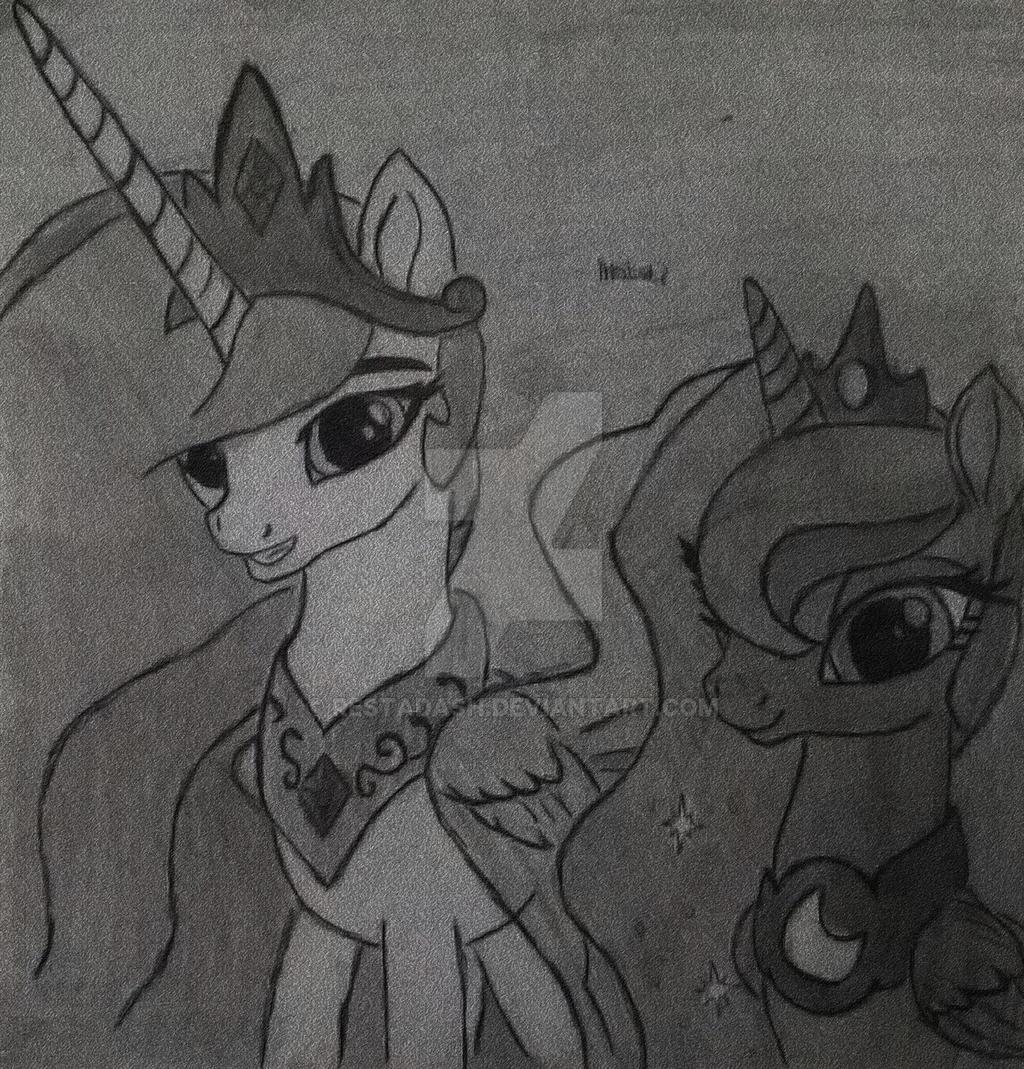 Celestia and Luna by RestaDash