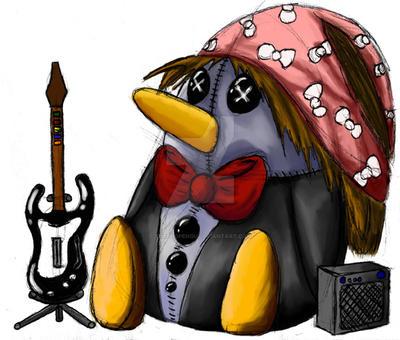 Guitar Hero Pengu by TuxedoPengu