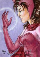 Scarlet Witch Sketch Card '09 by Dangerous-Beauty778