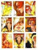 Firestar sketch cards by Dangerous-Beauty778