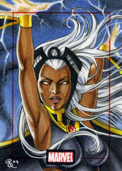 Storm, Marvel 70th sketch card