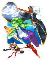 Women of Marvel by Dangerous-Beauty778