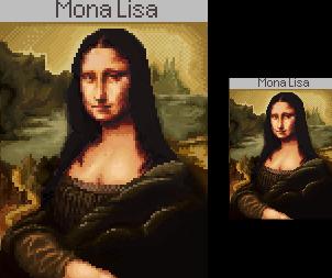 Pixel: Mona Lisa ver. 2 by BotherBear