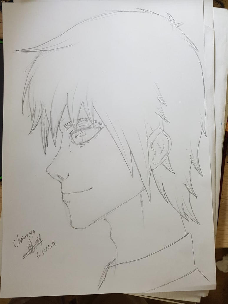 sideways manga face practice  by Chains95