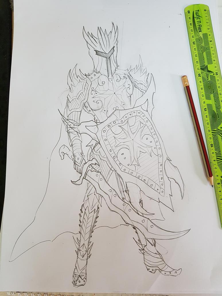 crimson topaz (gift) sketch by Chains95