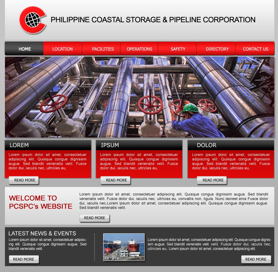 PCSPC Proposed Web Design 1 by Noah0207