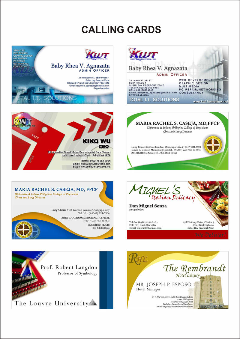 Free Business Card Templates For Word 2007
