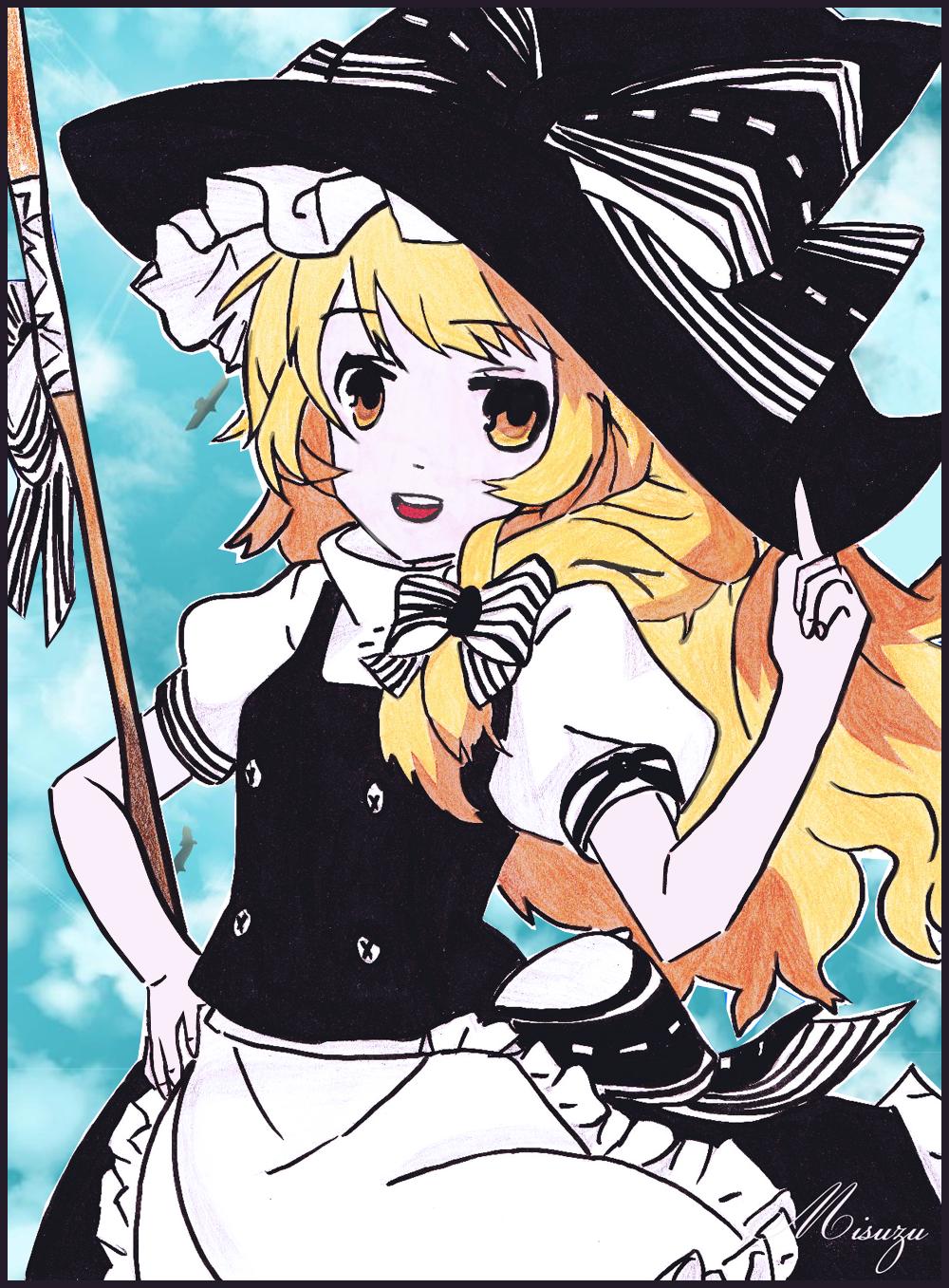 Marisa Kirisame - Sweet Witch ! by CaptainMisuzu