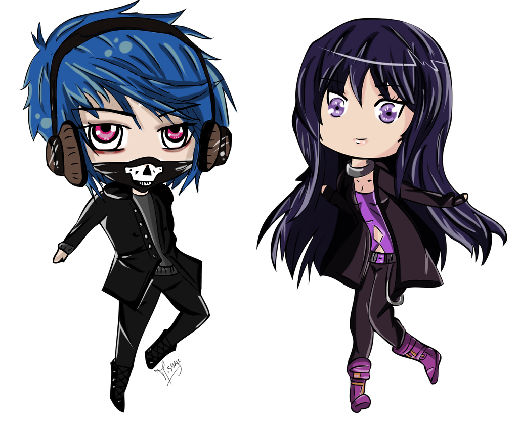 chibi dark beat ours hearts anime kaze jiyu drawings deviantart link thank friends manga