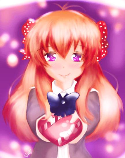 Happy Valentines Sweeties - Chiyo Sakura by CaptainMisuzu