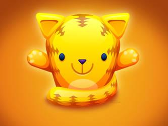 Yellow Cat Wallpaper