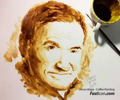 Robin Williams Tribute Art - Coffee Art