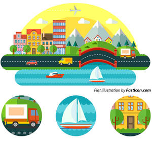 Flat-illustration-fasticon