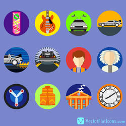 Back to the Future Icons