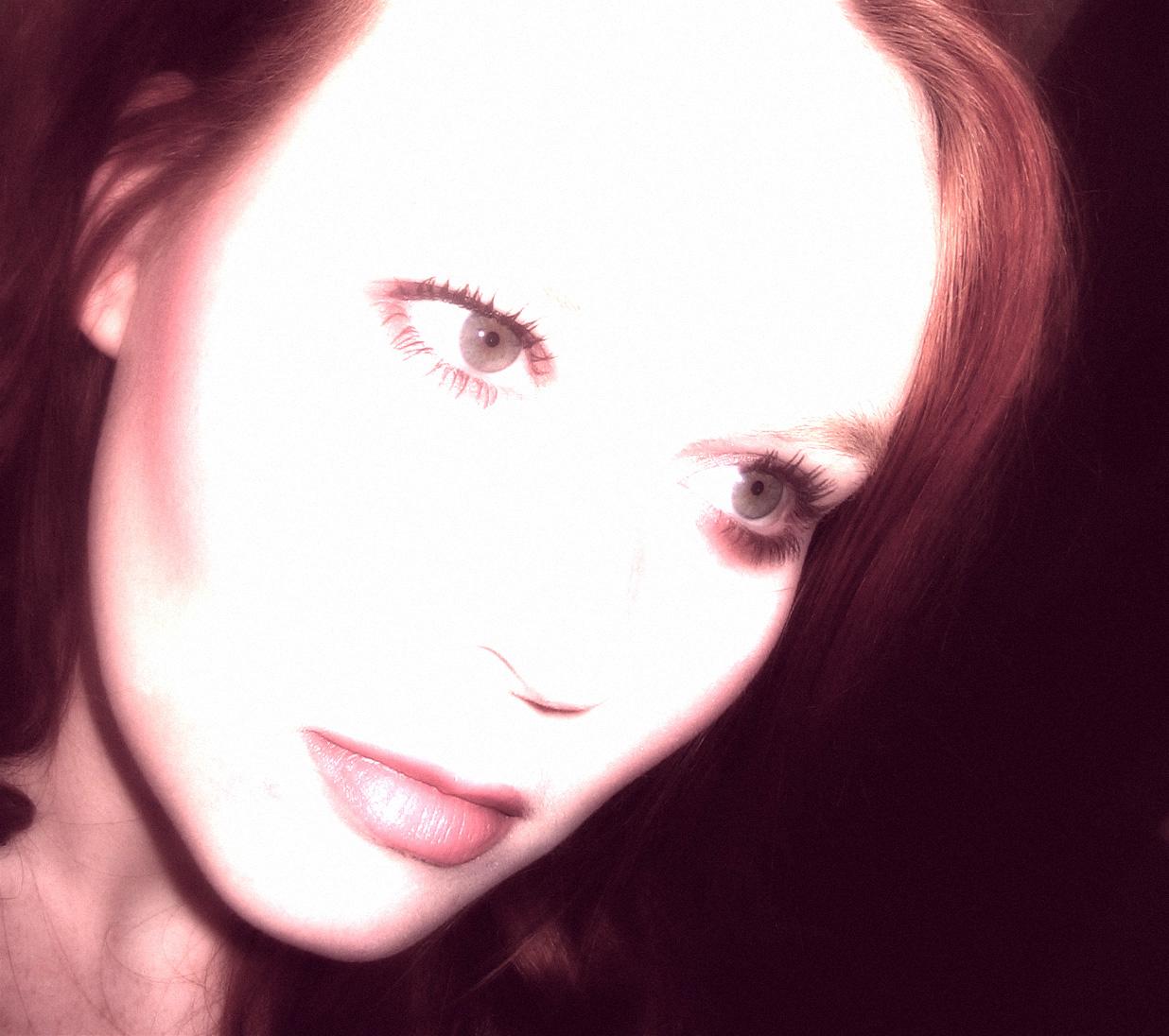 self portrait in violet II