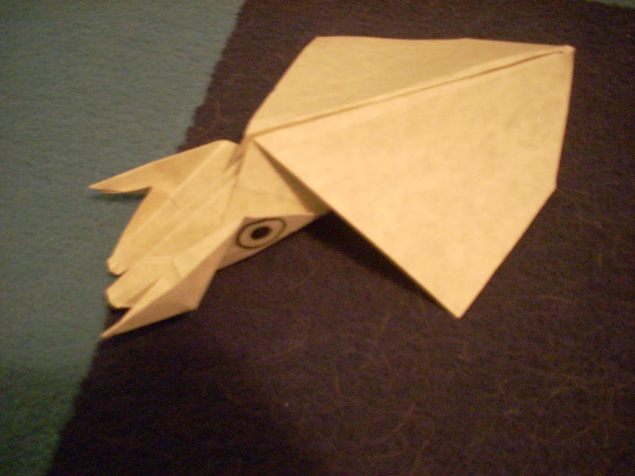 origami squid by foreveredward on deviantart